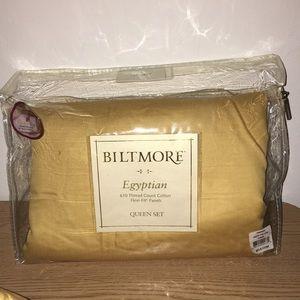 Egyptian 610 Thread Cotton Sheet Set Queen Yellow